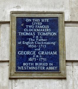 Plaque on the home of George Graham